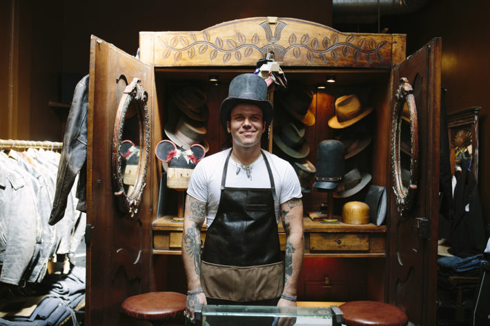 """9da51fc4a4189 """"Gunner Foxx is one of the last remaining few  true  Traditional Hatters  left in existence by use of the early 19th Century felting methods and Hat  Making ..."""